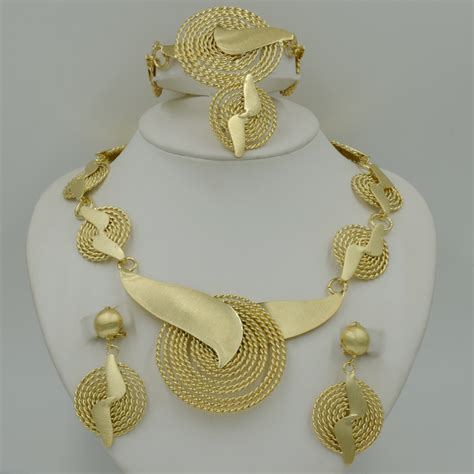 how to make gold plated jewelry 2017 new handmade dubai gold plated jewelry sets fashion