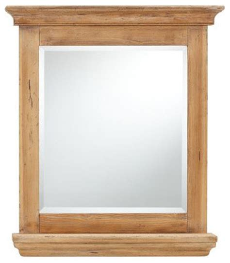 wooden bathroom mirror reclaimed wood mirror with shelf traditional