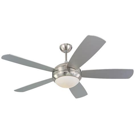 silver ceiling fan monte carlo discus 52 in brushed steel silver ceiling fan