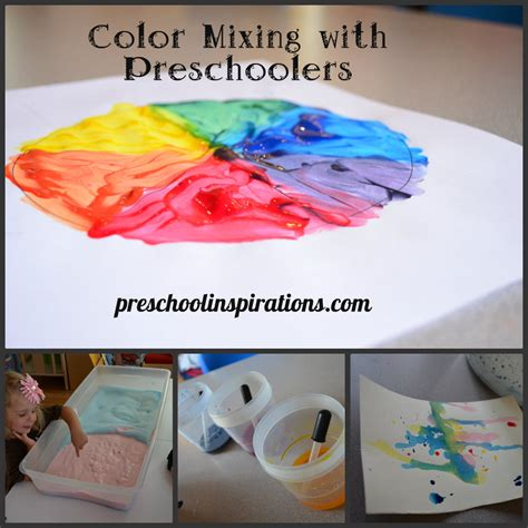 color crafts for color mixing with preschoolers preschool inspirations