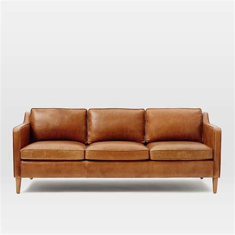 leather sofa colors hamilton leather sofa 81 quot west elm