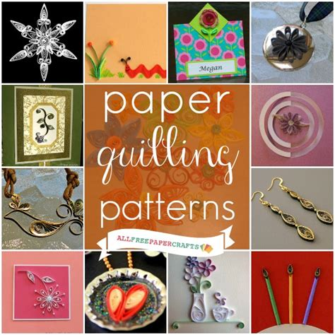 free crafts projects how to quill paper 35 free paper quilling patterns