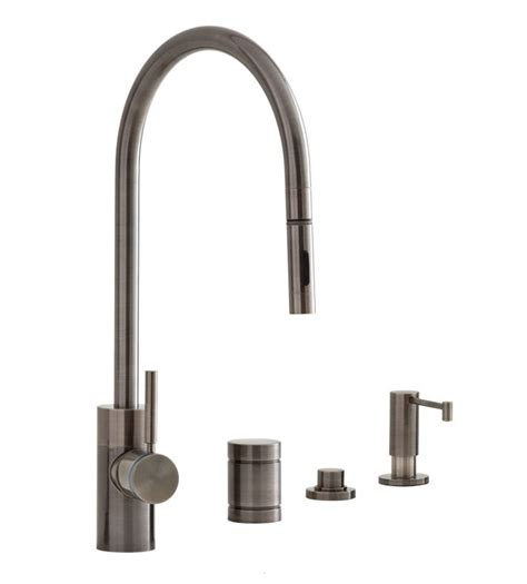 air in kitchen faucet faucet 5300 4 ap in antique pewter by waterstone