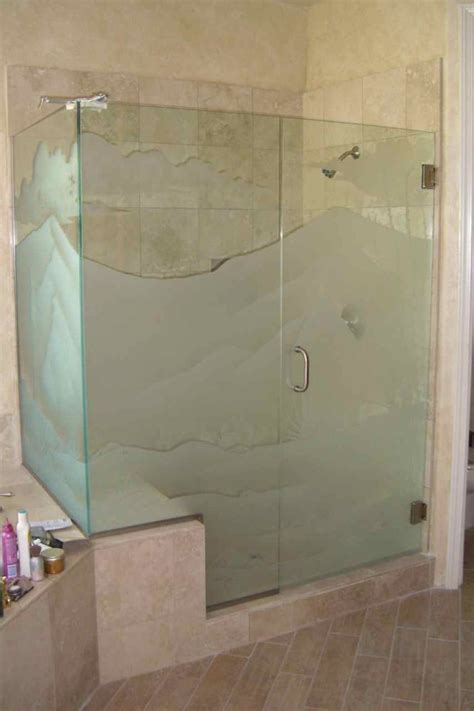 etched shower doors etched glass showers page 2 of 2 sans soucie glass