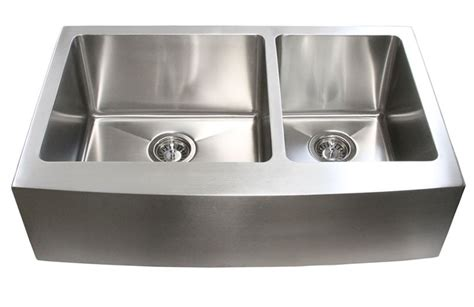 kitchen sink with apron 33 inch stainless steel curved front farm apron 60 40
