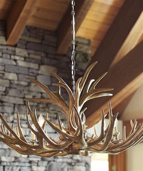 faux antler chandelier rustic chandeliers lodge cabin lighting