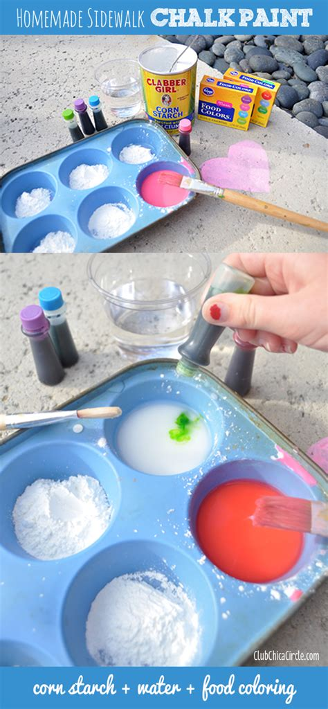 diy chalk paint crafts how to make sidewalk chalk paint club chica circle