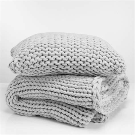 gray knit blanket knitted blanket and pillow set awesome and easy wedding