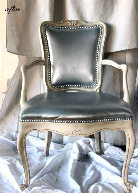 spray painting vinyl furniture 17 best ideas about silver spray paint on