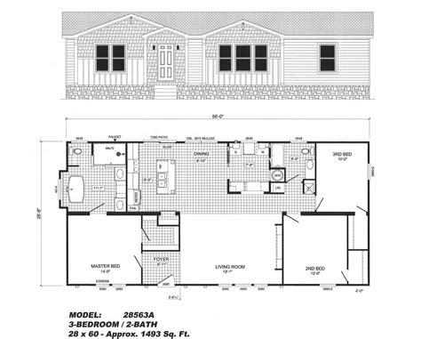 3 bedroom floor plan 3 bedroom floor plan b 2856 pat hawks homes