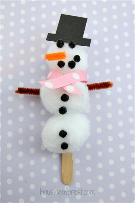 easy snowman crafts for easy snowman craft for cotton snowman
