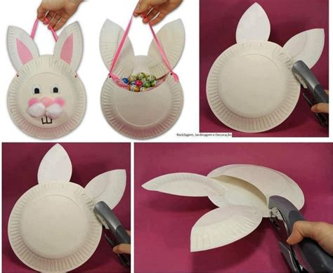 easter bunny paper plate craft easter bunny craft paper plate basket easter
