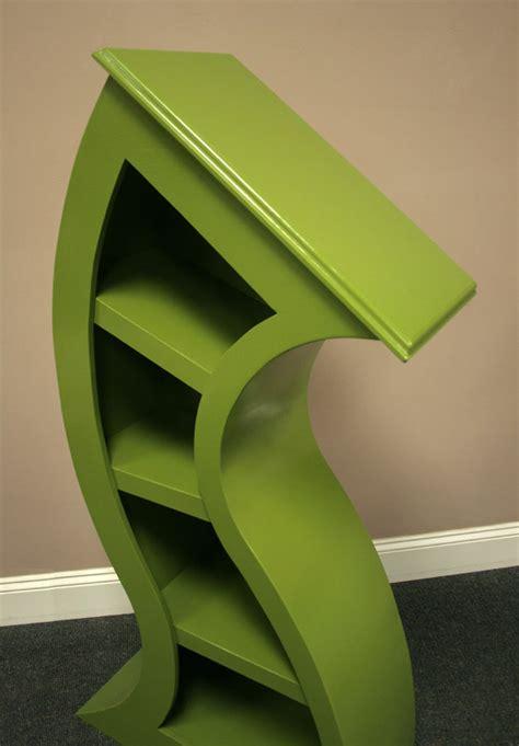 handmade bookshelves handmade curved wooden bookshelves the green