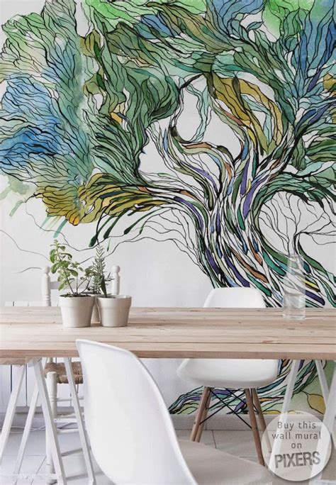 murals on wall 25 best ideas about tree wall murals on wall
