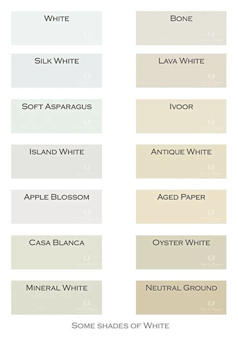 chalk paint white colors next to the colors of grey and blue now a selection of