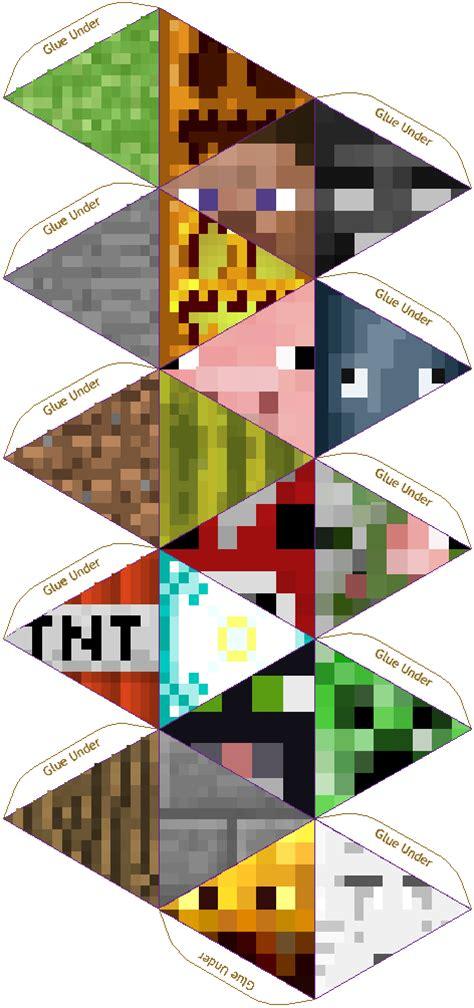 paper pixel craft papercraft 20 sided minecraft die