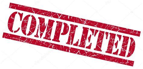 completed rubber st conclu 237 do pra 231 a vermelha grungy isolado carimbo de