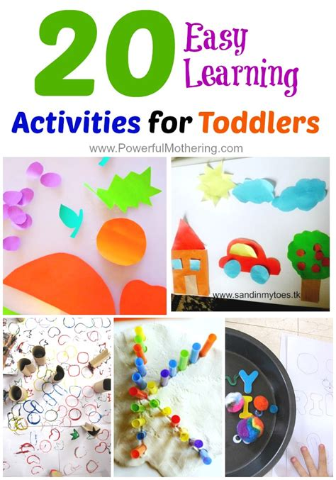 educational crafts for 20 easy learning activities for toddlers