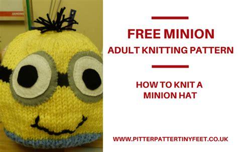 how to knit minions minion hat knitting pattern pitter patter tiny