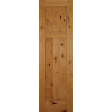 24 x 80 interior door 24 in x 80 in 3 panel craftsman solid knotty alder