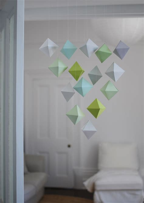 beautiful paper crafts make a beautiful paper polyhedron mobile