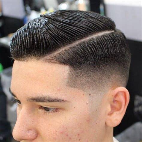 mens haircut with line hard part haircuts