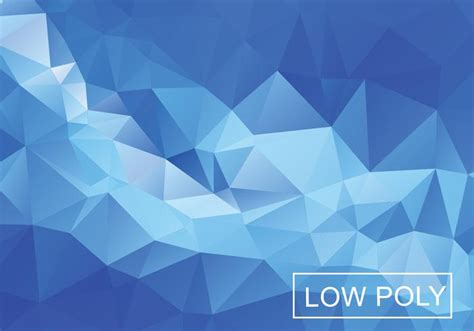 blue light polygonal mosaic background download free