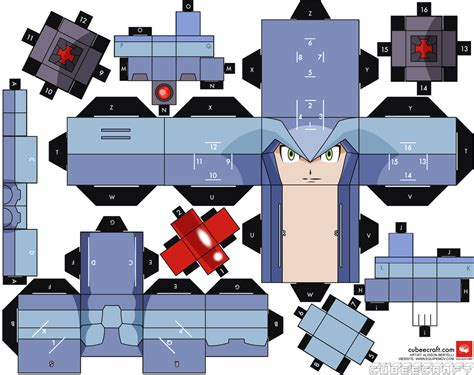 news paper craft cubee craft megaman x papercraft