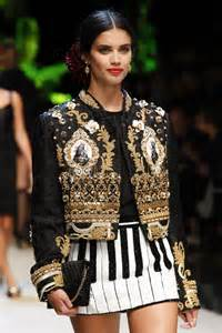 fashion show saio on the runway at dolce gabbana fashion show