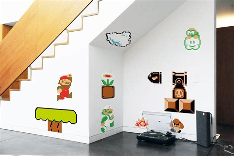 mario stickers for walls blik mario bros re stick wall decals wall sticker