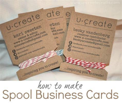 business card make how to make spool business cards u create
