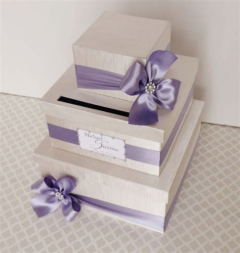 how to make a card box for a wedding custom made wedding card box money holder purple wisteria