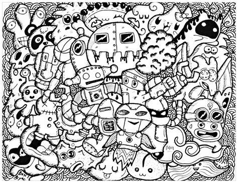 doodle lã sung doodle rigolo par bon arts doodles coloriages
