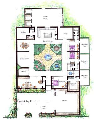 house plans with atrium garden homes with atriums floor