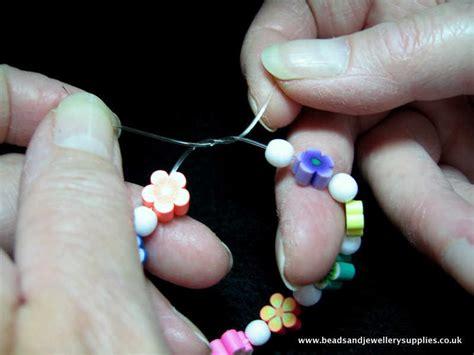 how to tie bead bracelets how to tie a stretch bracelet