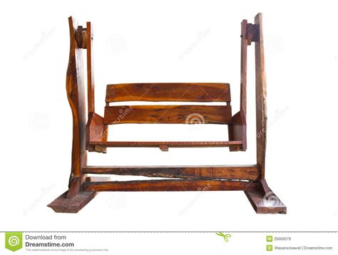 wooden garden swing seat royalty free stock images image