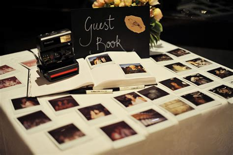polaroid picture book alternative wedding guest book ideas we