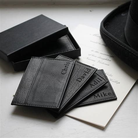 how to make a leather card holder personalised leather card holder by nv calcutta