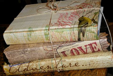 decoupage book cover weekend condo project go vintage chic with 14 decoupage ideas