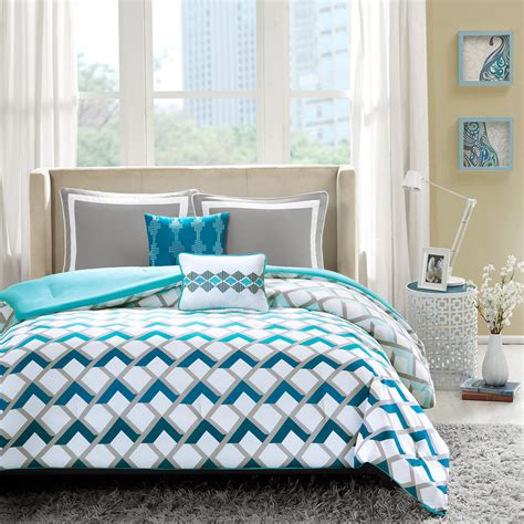 bedding blue blue and grey bedding