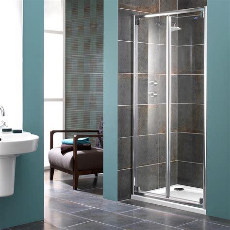 bifold glass shower door showerlux glide 8mm glass bi fold shower door 900mm