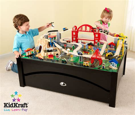 kid craft kidkraft metropolis table and set 17935