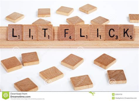 Lit Spelled With Scrabble Tiles Stock Photo
