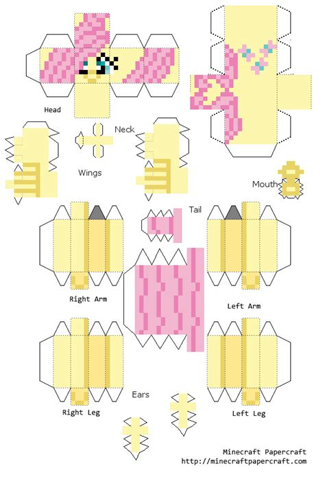 how to make things out of pony papercraft fluttershy my pony