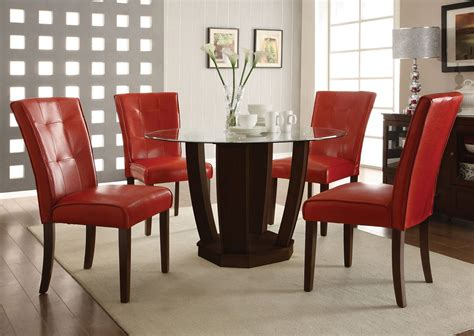 leather dining table chairs charles 120 cm dining table with 4 brook faux leather