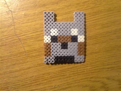 perler bead wolf items similar to perler minecraft wolf on etsy