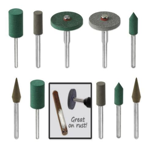 rubber st set 18pc in rubber emery polishing bit set fits