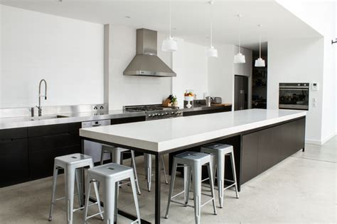 kitchen island bench ideas rock legend lizotte s warehouse conversion with a caesarstone kitchen