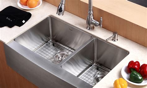 country kitchen sink kraus country style kitchen sink groupon goods