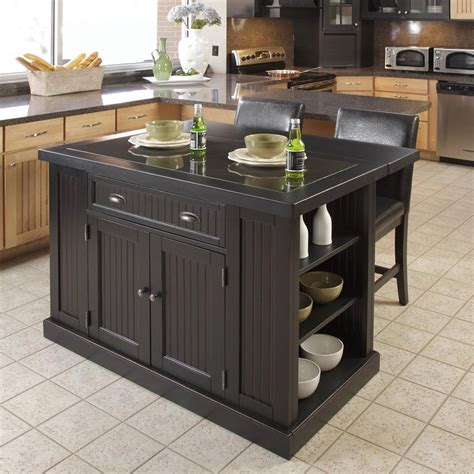 portable kitchen islands with stools black kitchen island with stools discount islands